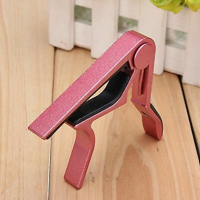 Trigger Quick Change Key Clamp Capo For Acoustic Electric Classic Guitar RED