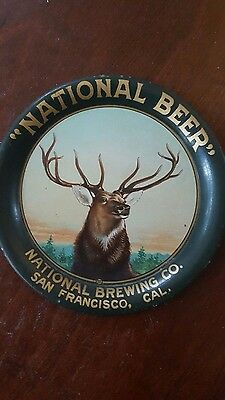 National Beer San Francisco Cal tip tray Western