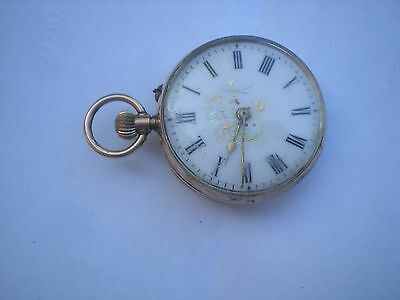 Antique 9Ct Gold Pocket Watch Working But In Poor Condition