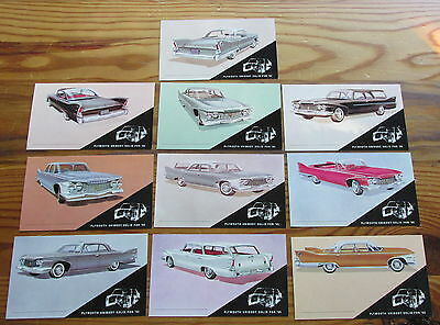 Lot MCM Retro Automobile Plymouth Car Dealership 1960 New Models Postcards 10