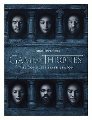 Game of Thrones: The Complete 6th Season (DVD, 2016, 5-Disc Set) NEW
