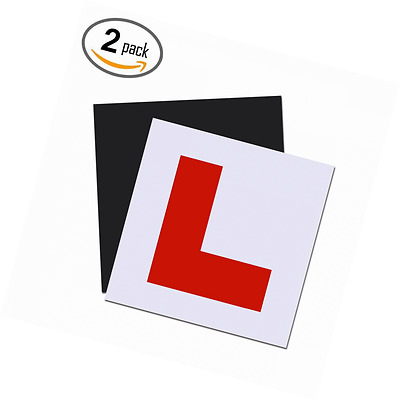 Extra Thick Strongest Fully Magnetic L Plates for New Drivers, 2 Pack Learner Pl