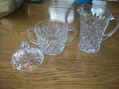 Vintage Eapc Covered Sugar Bowl And Creamer Pineapple Design