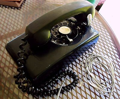 1962 Rotary Dial Wall Mount Phone Western Electric Bell Systems Working
