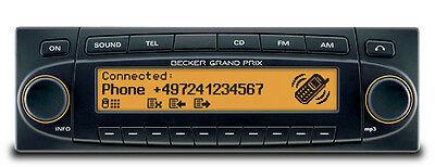 Becker Grand Prix 7990 CD Player/MP3 Amber Orange Porsche 911 930 993 996