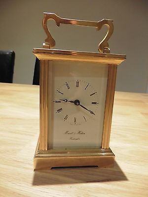 VINTAGE MORRELL & HILTON HUNTINGDON BRASS CARRIAGE CLOCK, possibly 9ct gold