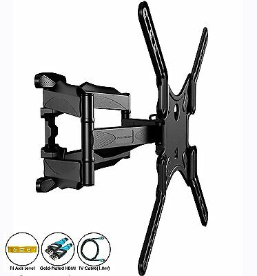 """Invision® Support TV mural Double bras inclinable pivotant 24 """"- 55"""""""