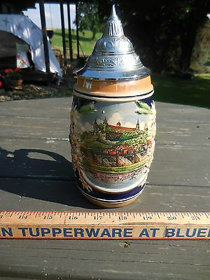Beautiful Lithophane  Beer Stein Made In West Germany Super Condition