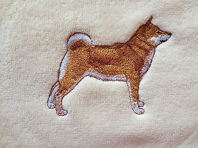 Shiba Inu, Towel, Embroidered, Custom, Personalized, Dog, Fingertip Towel