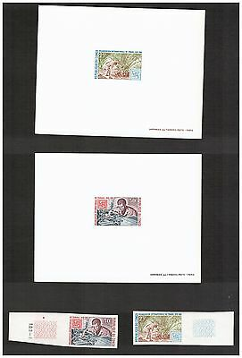 Congo Stamps  Scott# 198 199 Deluxe Proof 1969 Plus Imperf Stamps