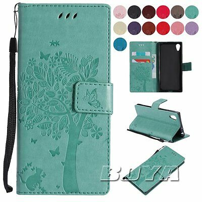 Wallet foldable case For Sony Xperia XA1/L1 pu leather protective stand cover