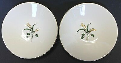 "Vintage Edwin Knowles Forsythia Sauce Fruit Dessert Bowls 5 1/2"" Set of 2 EUC"