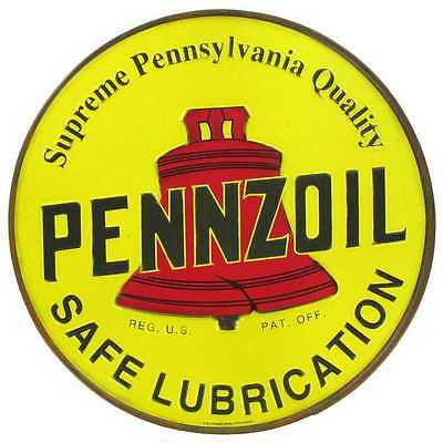Yellow Pennzoil Metal Sign Vintage, Retro Metal Sign | Man Cave, Garage Decor