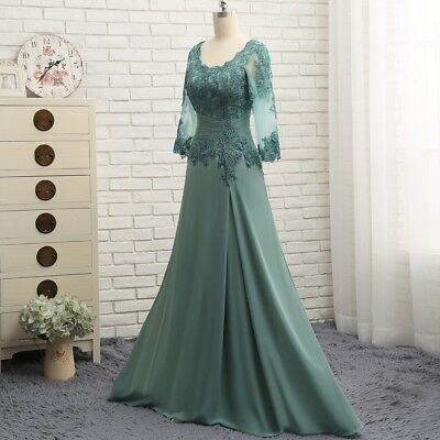Long Sleeve Lace and Chiffon Mother of the Bride Dress Pant Suit Formal Dress
