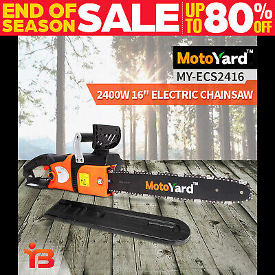 "NEW Moto Yard 2400W Electric Chainsaw E-Start 16"" Bar Chain Saw Tree Pruning"