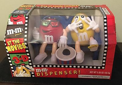 NEW - M&M's Candy Dispenser At the Movies with Red and Yellow