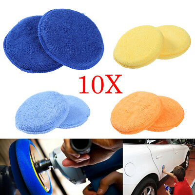 10pcs Car Vehicle Microfiber Waxing Polish Wax Foam Sponge Applicator Pads Clean