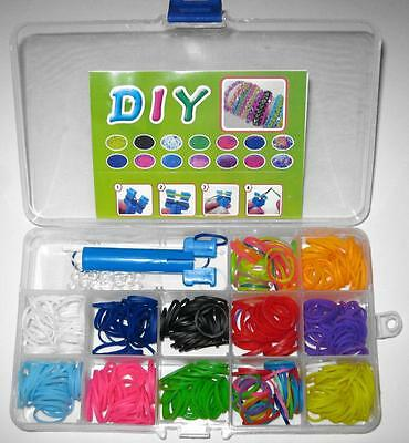 2 Mini Portable Travel Size Loom Band Kit Organizers + 600 Extra Bands FREE POST