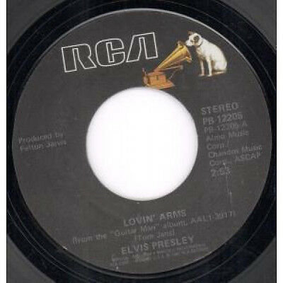 "ELVIS PRESLEY Lovin' Arms 7"" VINYL US Rca 1981 B/W You Asked Me To (Pb12205)"
