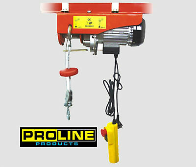 New Electric up/down remote control+emergency button Hoist 440LBS