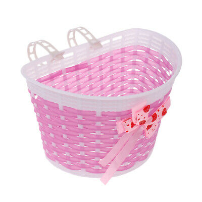 Bicycle Front Basket Bowknot Bike Shopping Holder for Children Kids Girls