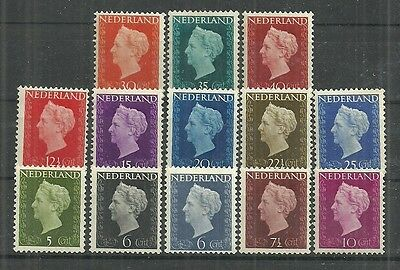 Netherlands Stamps #286-297 Lot Of 13 (Hinged) From 147-48.