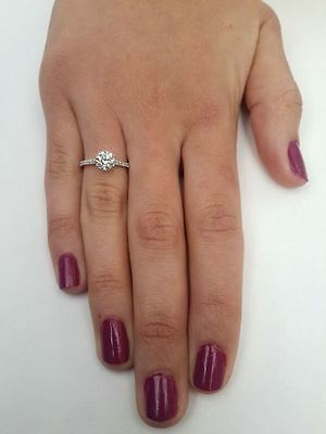 1.76 Ct Round Cut D/si1 Diamond Solitaire Engagement Ring 14K White Gold