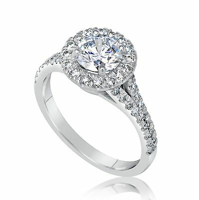 1.91 Ct Round Cut D/vs2 Diamond Solitaire Engagement Ring 18K White Gold