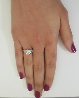 3.51 Ct Round Cut D/vs2 Diamond Solitaire Engagement Ring 18K White Gold