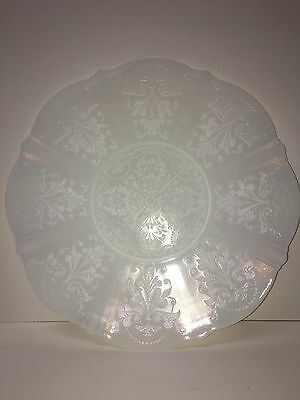 "Vintage 1930-36 Monax American Sweetheart  Depression 11"" Plate Center Decorated"