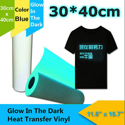 40cm 140℃ PU T-Shirt Heat Transfer Vinyl Roll Textile Glitter White or Blue