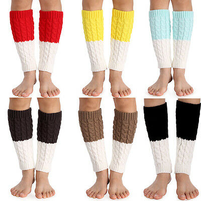 Ladies Soft Cable Knit Over knee Long Boot Thigh-High Warm Socks Leggings EH7E