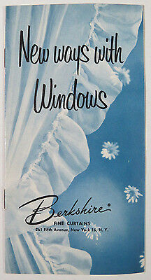 Vintage Berkshire Fine Curtains Advertising Booklet New Ways with Windows