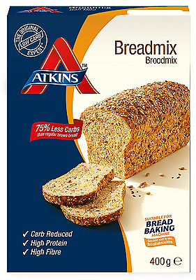 Atkins Low Carb, High Protein Bread Mix, Health & Diet, 400g