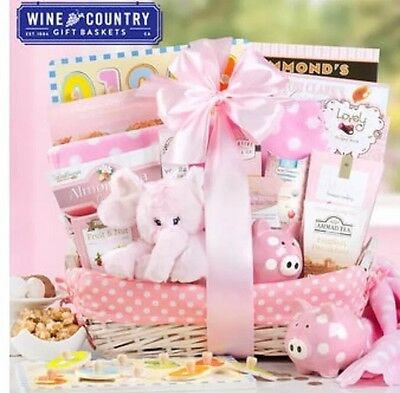 New Arrival Baby Girl Gift Basket, baby shower gift