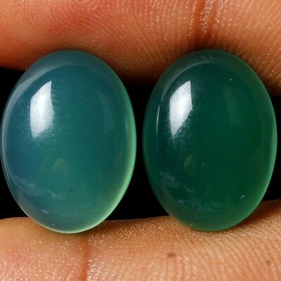 9.50 Ct. Amazing Quality Natural Onyx Oval Cabochon Top Match Pair Gemstones