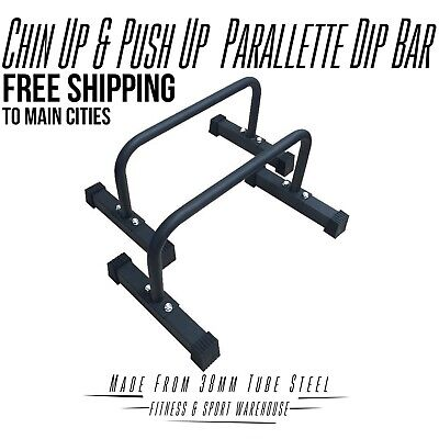 New Training Dip Up Parallel Parallette Bar Push Up Dip Bars Fitness Strength