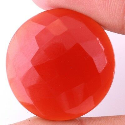 22.2 Ct. Aaa Quality Natural Red Onyx Faceted Round Shape Fine Gemstones