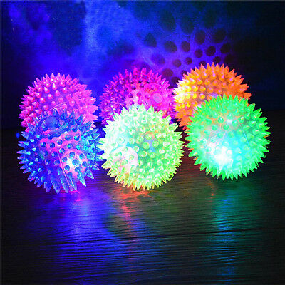 Kids Colorful Motion Activate LED Flashlight Ball Electronic Toy Gift Party