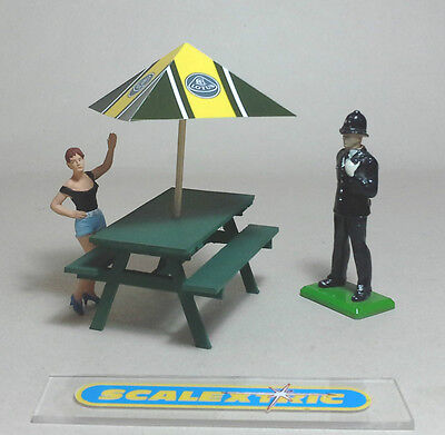 Vintage GREEN 'LOTUS' PICNIC BENCH For Scalextric Airfix Ninco SCX Carrera+ 1.32