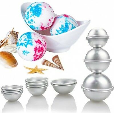 3Set DIY Metal Bath Alloy Bomb Mold with 3Sizes 8Pieces for Crafting Own Fizzles