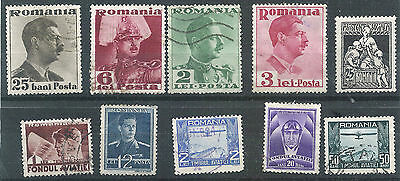 Romania Selection Of Old Stamps