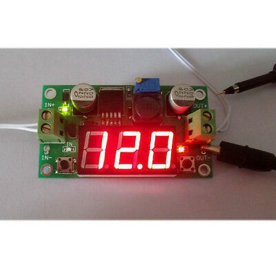 Buck Step-Down Lm2596S Power Converter Module Dc 4.0~40 1.25-37V Voltmeter 1508