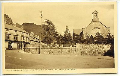 CP Royaume-Uni United Kingdom - Blaenau Festiniog - English Church Market Square