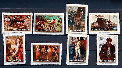 8 TIMBRES RWANDA  NEUF ** TABLEAUX serie complete Scott 310/7 88M635