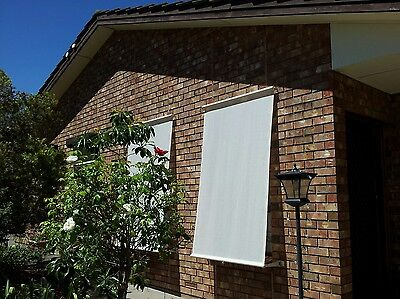 Shadecloth Retractable Window Ware Blinds. cream 120cm wide X 2