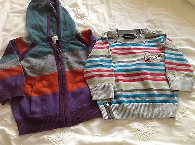 Monsoon And Next  Long Sleeve Jumpers 3- 6 mths.  V.G.C.