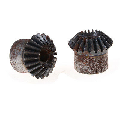 2pcs 7mm Metal Bevel Gears 1 Module 20 Teeth With Inner Hole 7mm 90 Degree FT