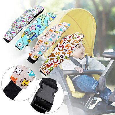 Unisex Kid Infant Stroller Safety Car Seat Sleep Nap Aid Band Head Support Strap