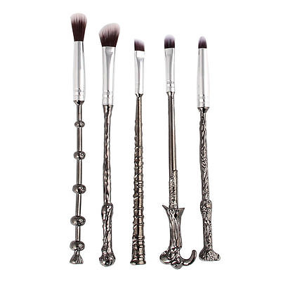 5tlg Harry Potter Makeup Pinsel Magic Beauty Cosmetic Wizard Wand Brush+bag